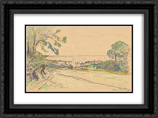 Beuzec-Concq in Concarneau 24x18 Black or Gold Ornate Framed and Double Matted Art Print by Maxime Maufra