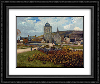 Breton Landscape 24x20 Black or Gold Ornate Framed and Double Matted Art Print by Maxime Maufra