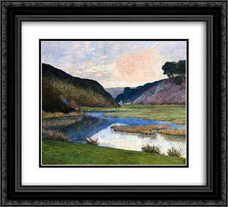 Brittany 22x20 Black or Gold Ornate Framed and Double Matted Art Print by Maxime Maufra