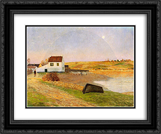 Brittany - a Hamlet 24x20 Black or Gold Ornate Framed and Double Matted Art Print by Maxime Maufra