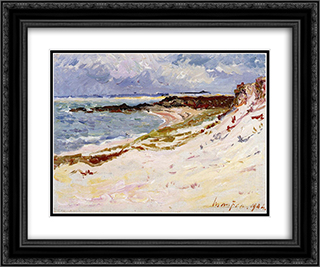 By the Sea 24x20 Black or Gold Ornate Framed and Double Matted Art Print by Maxime Maufra
