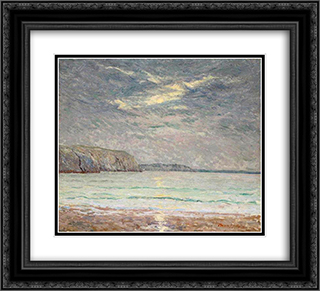 Cliffs at Sunset 22x20 Black or Gold Ornate Framed and Double Matted Art Print by Maxime Maufra
