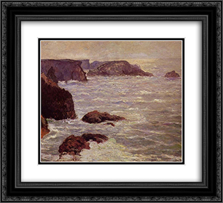 Coast Goulphar 22x20 Black or Gold Ornate Framed and Double Matted Art Print by Maxime Maufra