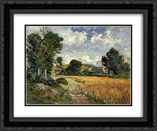 Cornfield in the Valley of Saint-Jean-du-Doigt 24x20 Black or Gold Ornate Framed and Double Matted Art Print by Maxime Maufra