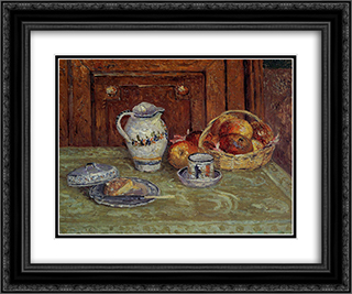 Dessert 24x20 Black or Gold Ornate Framed and Double Matted Art Print by Maxime Maufra