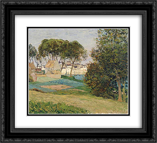 Douarnenez, October landscape 22x20 Black or Gold Ornate Framed and Double Matted Art Print by Maxime Maufra