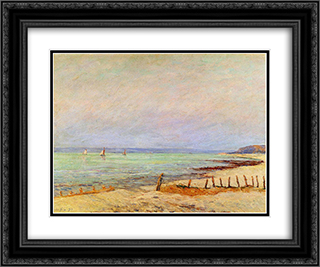 Dusk 24x20 Black or Gold Ornate Framed and Double Matted Art Print by Maxime Maufra
