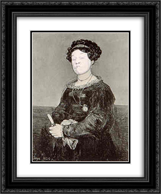Ridiculous Portrait (Goya seated female) 20x24 Black or Gold Ornate Framed and Double Matted Art Print by May Wilson