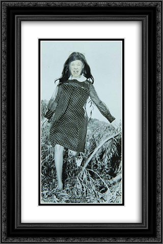 Ridiculous Portrait (Polka Dot Dress) 16x24 Black or Gold Ornate Framed and Double Matted Art Print by May Wilson
