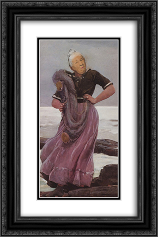 Ridiculous Portrait (Seashore) 16x24 Black or Gold Ornate Framed and Double Matted Art Print by May Wilson