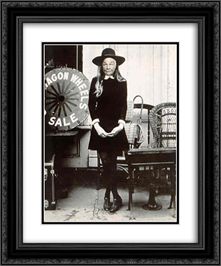 Ridiculous Portrait (Wagon Wheels) 20x24 Black or Gold Ornate Framed and Double Matted Art Print by May Wilson