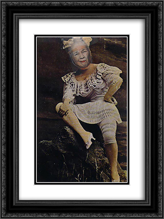 Ridiculous Portrait (Woman in a Bathing Costume) 18x24 Black or Gold Ornate Framed and Double Matted Art Print by May Wilson