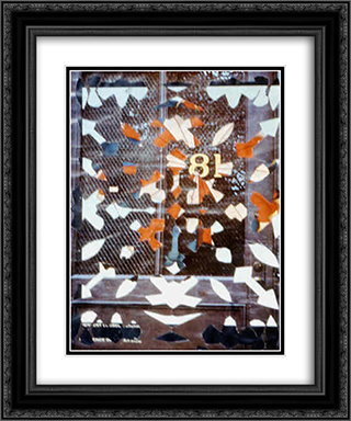 Snowflake Collage (81) 20x24 Black or Gold Ornate Framed and Double Matted Art Print by May Wilson