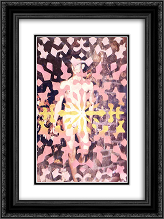 Untitled (Snowflake Series) 18x24 Black or Gold Ornate Framed and Double Matted Art Print by May Wilson