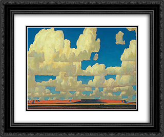 Cloud World 24x20 Black or Gold Ornate Framed and Double Matted Art Print by Maynard Dixon