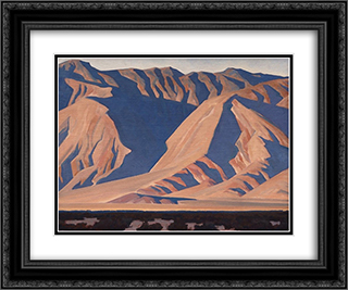 Inyo Mountains 24x20 Black or Gold Ornate Framed and Double Matted Art Print by Maynard Dixon