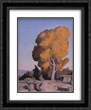 Low Country Cottonwood 20x24 Black or Gold Ornate Framed and Double Matted Art Print by Maynard Dixon