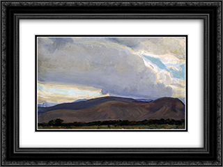 Storm from the Sierra 24x18 Black or Gold Ornate Framed and Double Matted Art Print by Maynard Dixon