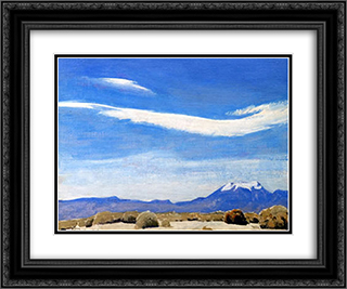 The Cloud, Coachella Valley, California 24x20 Black or Gold Ornate Framed and Double Matted Art Print by Maynard Dixon