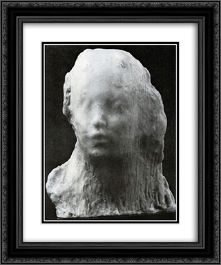 Behold the Boy 20x24 Black or Gold Ornate Framed and Double Matted Art Print by Medardo Rosso