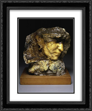 Carne altrui 20x24 Black or Gold Ornate Framed and Double Matted Art Print by Medardo Rosso