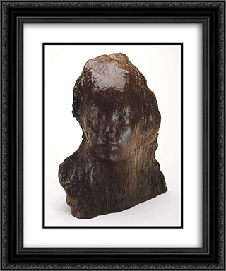 Ecce Puer (Behold the Child) 20x24 Black or Gold Ornate Framed and Double Matted Art Print by Medardo Rosso