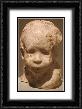 Jewish Boy 18x24 Black or Gold Ornate Framed and Double Matted Art Print by Medardo Rosso