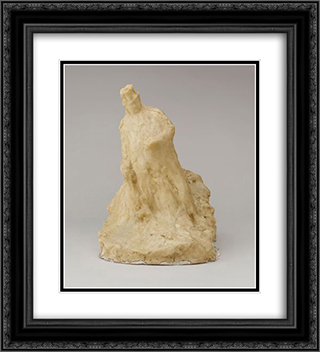 The Bookmaker 20x22 Black or Gold Ornate Framed and Double Matted Art Print by Medardo Rosso