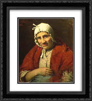 Old Jewish Woman 20x22 Black or Gold Ornate Framed and Double Matted Art Print by Meijer de Haan