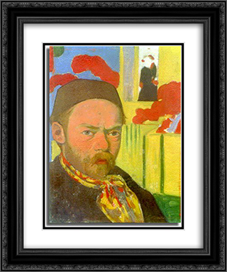 Self-Portrait 20x24 Black or Gold Ornate Framed and Double Matted Art Print by Meijer de Haan