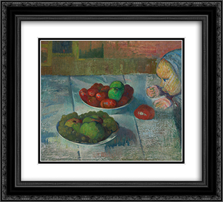 Still life with a profile of Mimi 22x20 Black or Gold Ornate Framed and Double Matted Art Print by Meijer de Haan