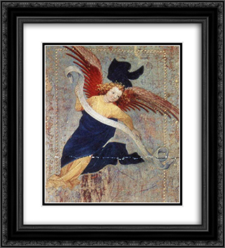 Angel (from Altar of Philip the Bold) 20x22 Black or Gold Ornate Framed and Double Matted Art Print by Melchior Broederlam