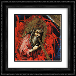 God the Father (from Altar of Philip the Bold) 20x20 Black or Gold Ornate Framed and Double Matted Art Print by Melchior Broederlam