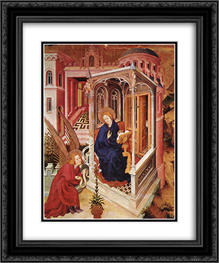 The Annunciation (from Altar of Philip the Bold) 20x24 Black or Gold Ornate Framed and Double Matted Art Print by Melchior Broederlam