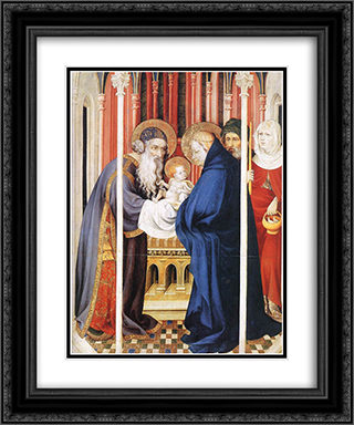 The Presentation of Christ (from Altar of Philip the Bold) 20x24 Black or Gold Ornate Framed and Double Matted Art Print by Melchior Broederlam