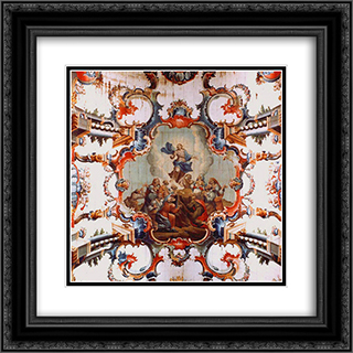 AscensÆ'o de Cristo 20x20 Black or Gold Ornate Framed and Double Matted Art Print by Mestre Ataide