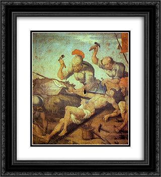 Crucifixion of Christ 20x22 Black or Gold Ornate Framed and Double Matted Art Print by Mestre Ataide