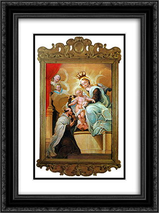 Nossa Senhora do Carmo e SÆ'o SimÆ'o Stock 18x24 Black or Gold Ornate Framed and Double Matted Art Print by Mestre Ataide