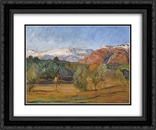 Alpes Maritimes Landscape 24x20 Black or Gold Ornate Framed and Double Matted Art Print by Michel Simonidy