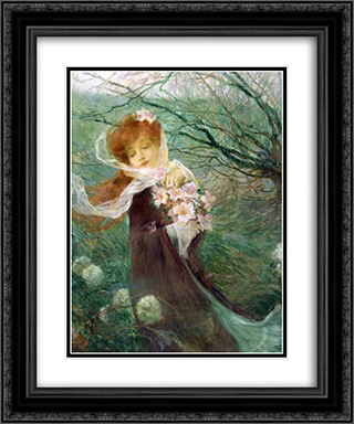 Winter perfume 20x24 Black or Gold Ornate Framed and Double Matted Art Print by Michel Simonidy