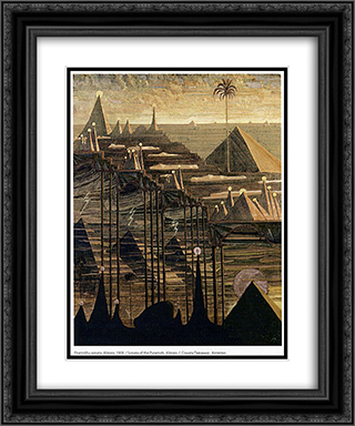 Alegro (Sonata of the Pyramids) 20x24 Black or Gold Ornate Framed and Double Matted Art Print by Mikalojus Ciurlionis