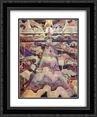Allegro (Sonata of the Stars) 20x24 Black or Gold Ornate Framed and Double Matted Art Print by Mikalojus Ciurlionis