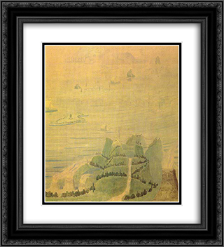 Allegro (Sonata of the Sumer) 20x22 Black or Gold Ornate Framed and Double Matted Art Print by Mikalojus Ciurlionis