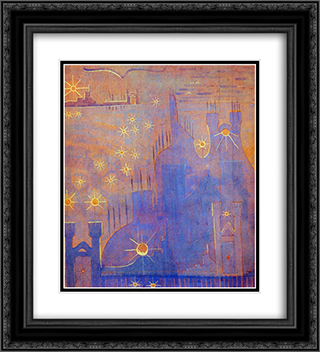 Allegro (Sonata of the Sun) 20x22 Black or Gold Ornate Framed and Double Matted Art Print by Mikalojus Ciurlionis
