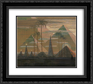 Andante (Sonata of the Pyramids) 22x20 Black or Gold Ornate Framed and Double Matted Art Print by Mikalojus Ciurlionis