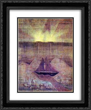 Andante (Sonata of the Sea) 20x24 Black or Gold Ornate Framed and Double Matted Art Print by Mikalojus Ciurlionis