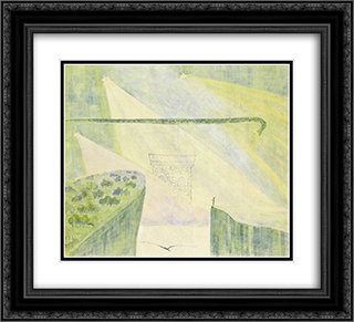 Andante (Sonata of the Serpent) 22x20 Black or Gold Ornate Framed and Double Matted Art Print by Mikalojus Ciurlionis