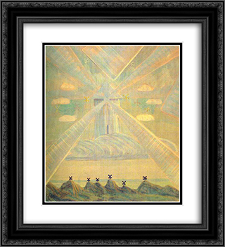 Andante (Sonata of the Spring) 20x22 Black or Gold Ornate Framed and Double Matted Art Print by Mikalojus Ciurlionis