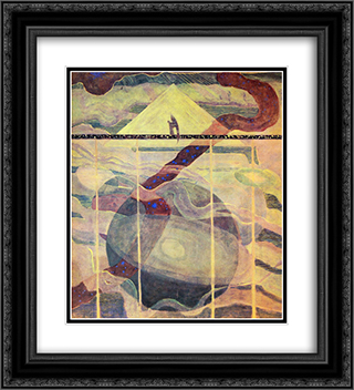 Andante (Sonata of the Stars) 20x22 Black or Gold Ornate Framed and Double Matted Art Print by Mikalojus Ciurlionis