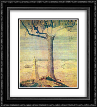 Andante (Sonata of the Summer) 20x22 Black or Gold Ornate Framed and Double Matted Art Print by Mikalojus Ciurlionis